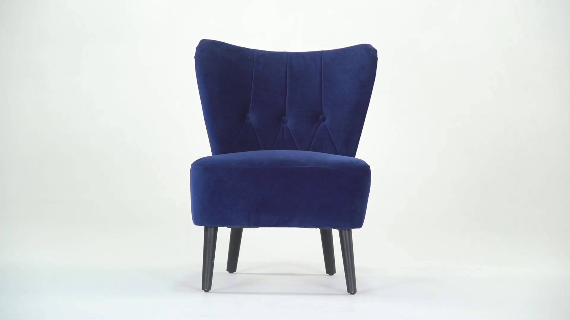 Charley Accent Chair Electric Blue Velvet In Time For Christmas 2017