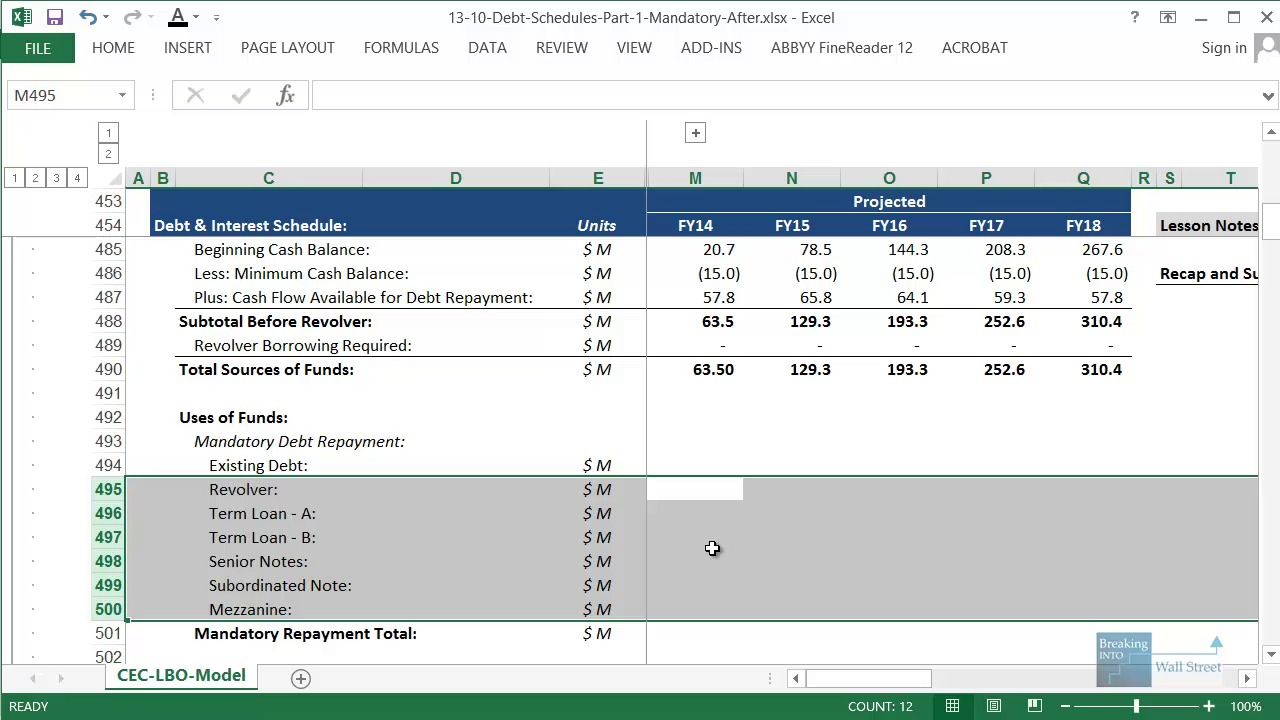 Financial ratios worksheet excel