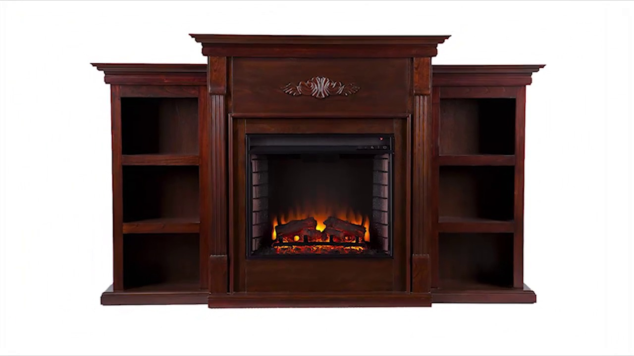 Fireplace with bookcases