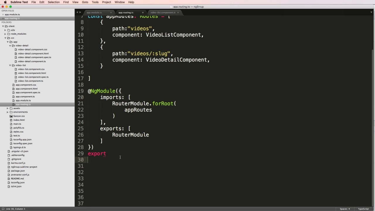 6 - 7 - Mapping Urls with RouterModule mp4