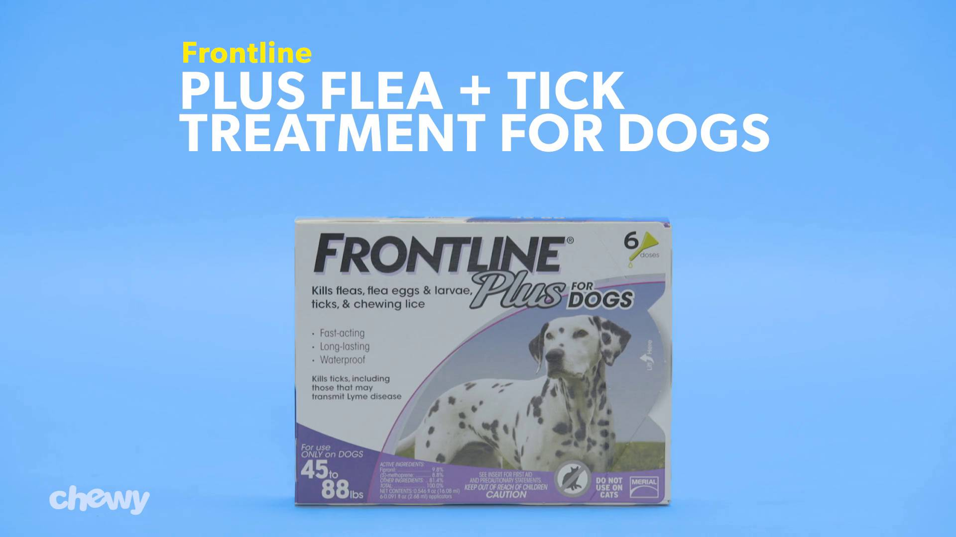 Frontline Plus Flea & Tick Treatment for Dogs, up to 22 lbs, 6 ...