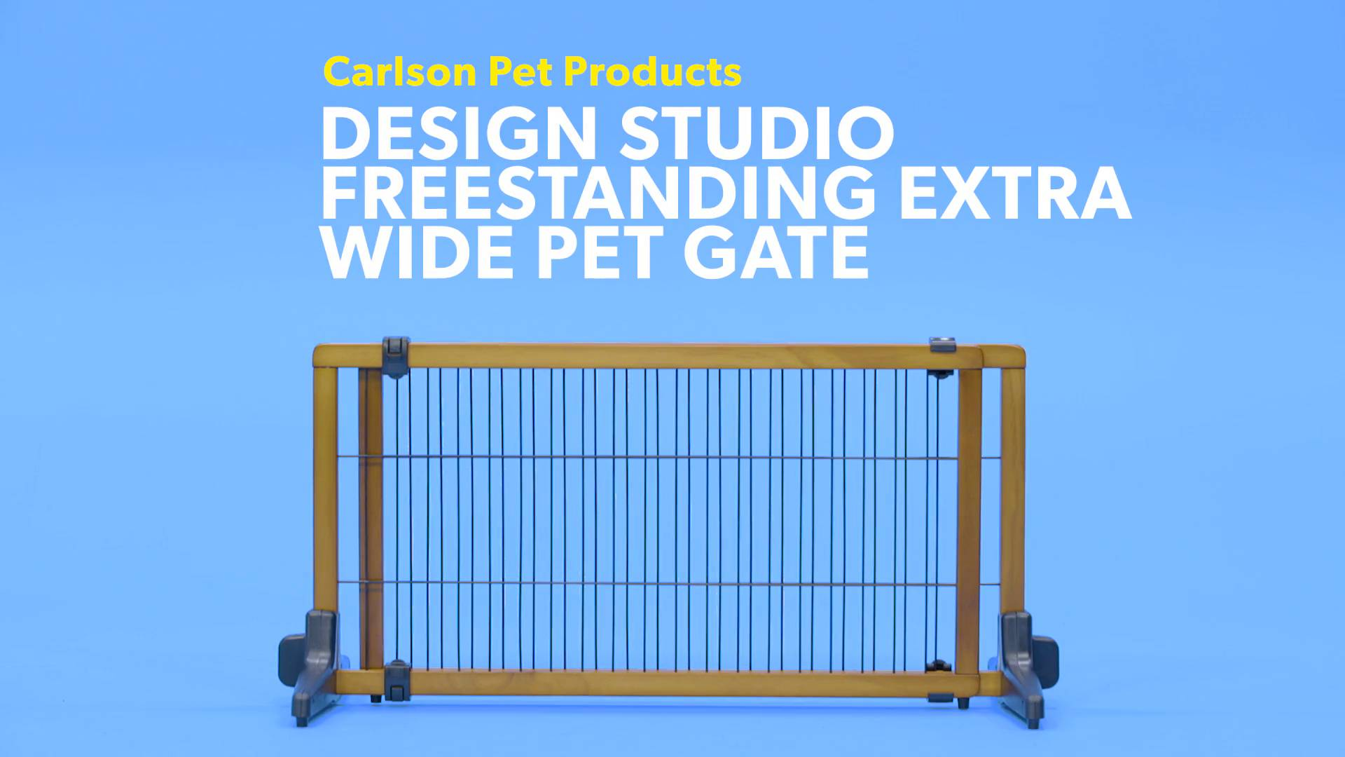 Carlson Pet Products Design Studio Freestanding Extra Wide Pet Gate