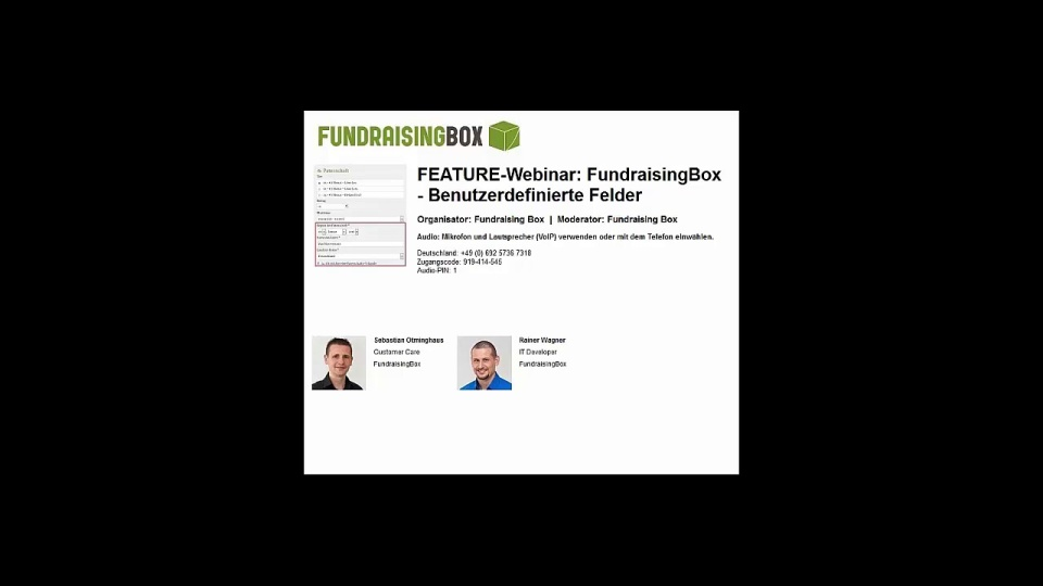 Wistia video thumbnail - FEATURE-Webinar FundraisingBox-Benutzerdefinierte Felder (German)