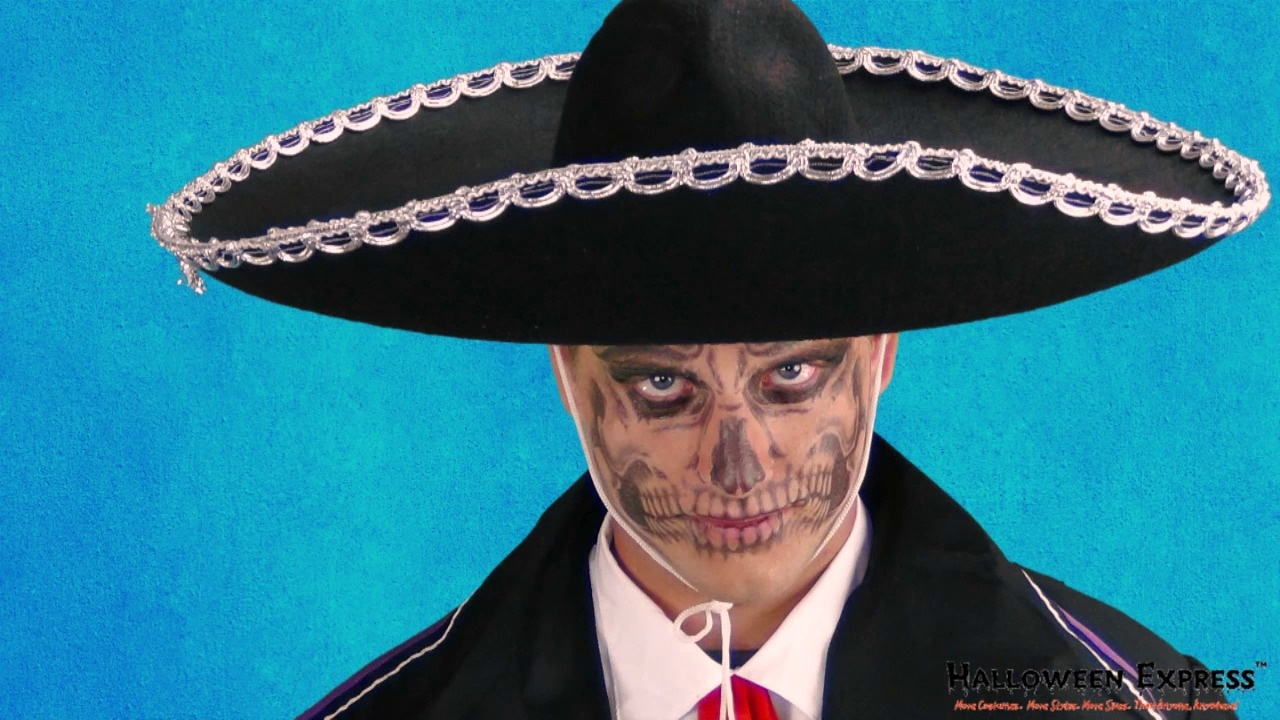 4a6e47456 How to Create a Day of the Dead Skull Face Using Temporary Tattoos ...