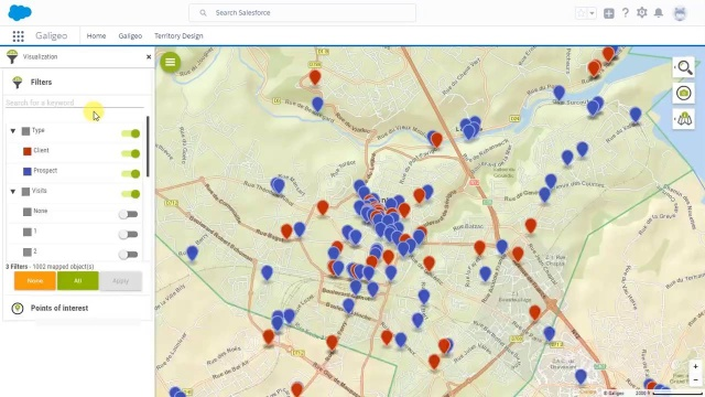 Maps in Salesforce for sales efficiency - Galigeo for Salesforce