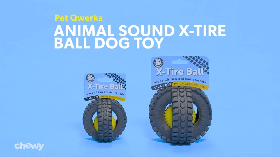 Pet Qwerks Animal Sound X-Tire Ball Dog Toy, 5-in - Chewy com