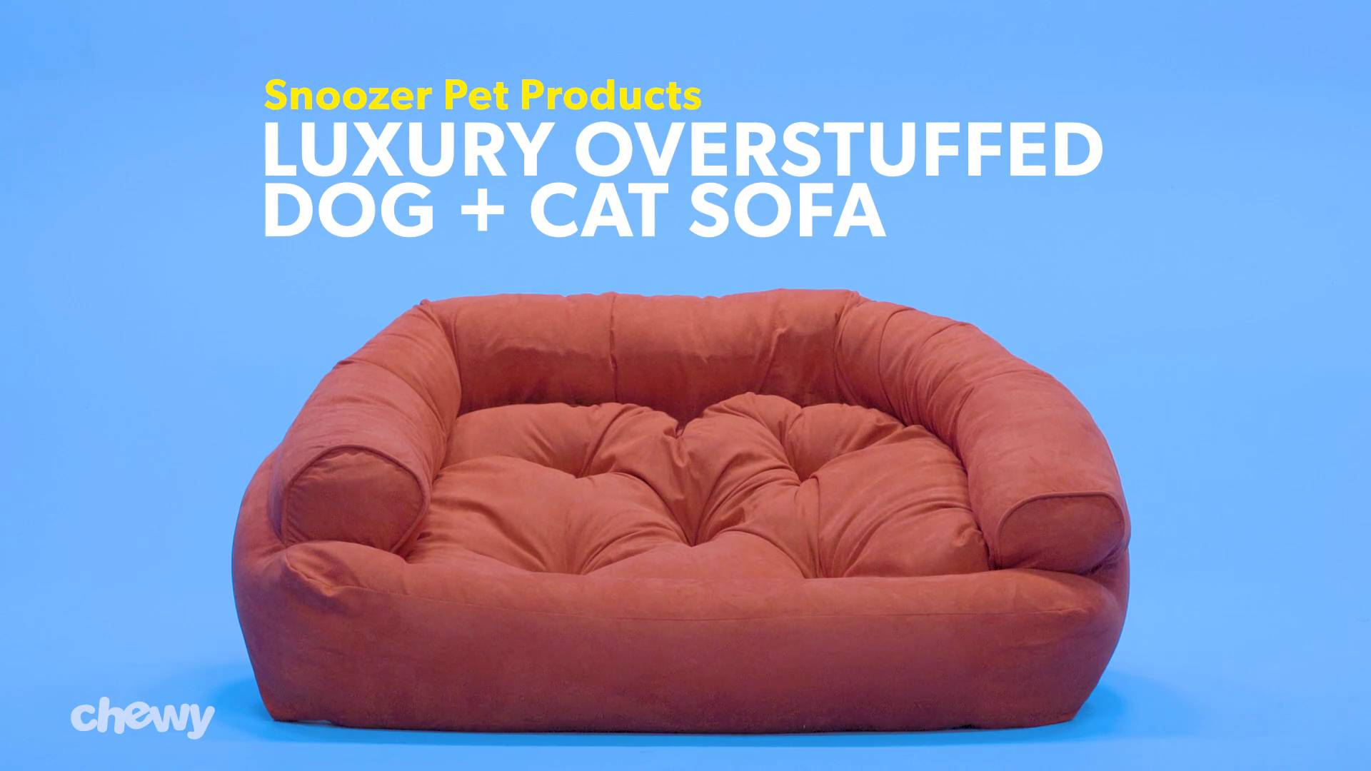 Snoozer Pet Products Luxury Overstuffed Dog Cat Sofa Anthracite