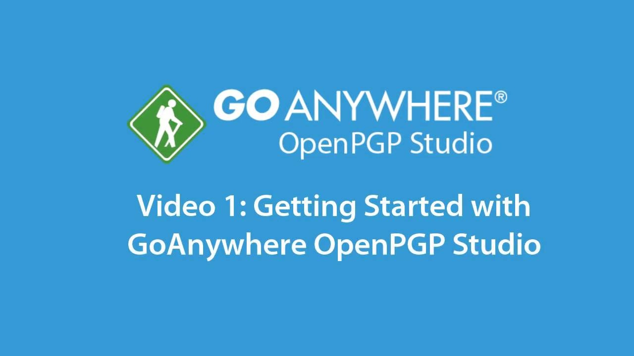 1  Up and Running with OpenPGP Studio
