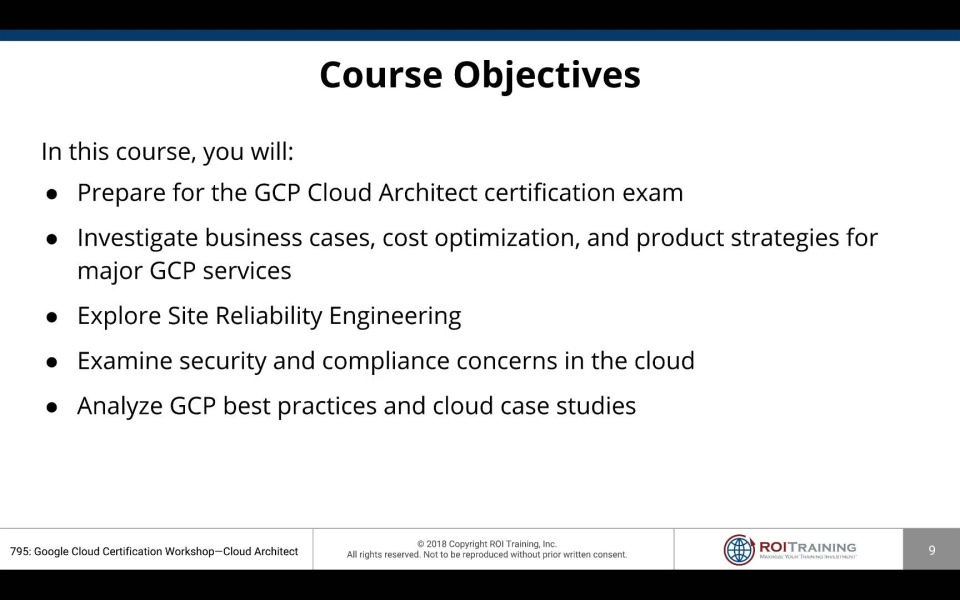 Google Cloud Architect Certification Workshop