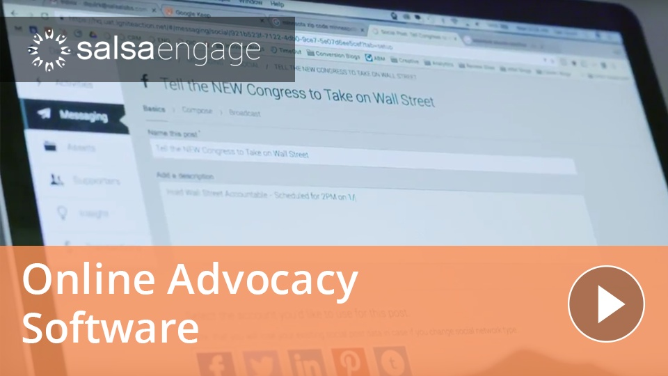 Wistia video thumbnail - Online Advocacy in Salsa Engage