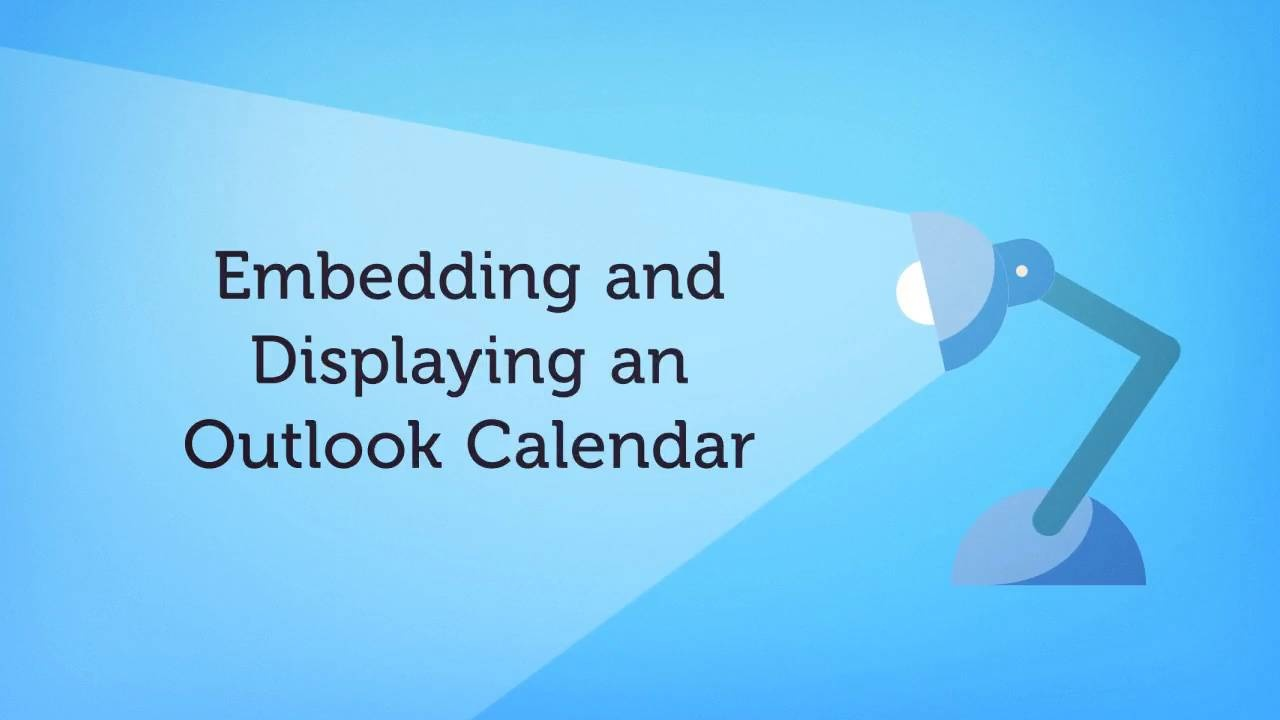 how to embed an outlook calendar myhub intranet help