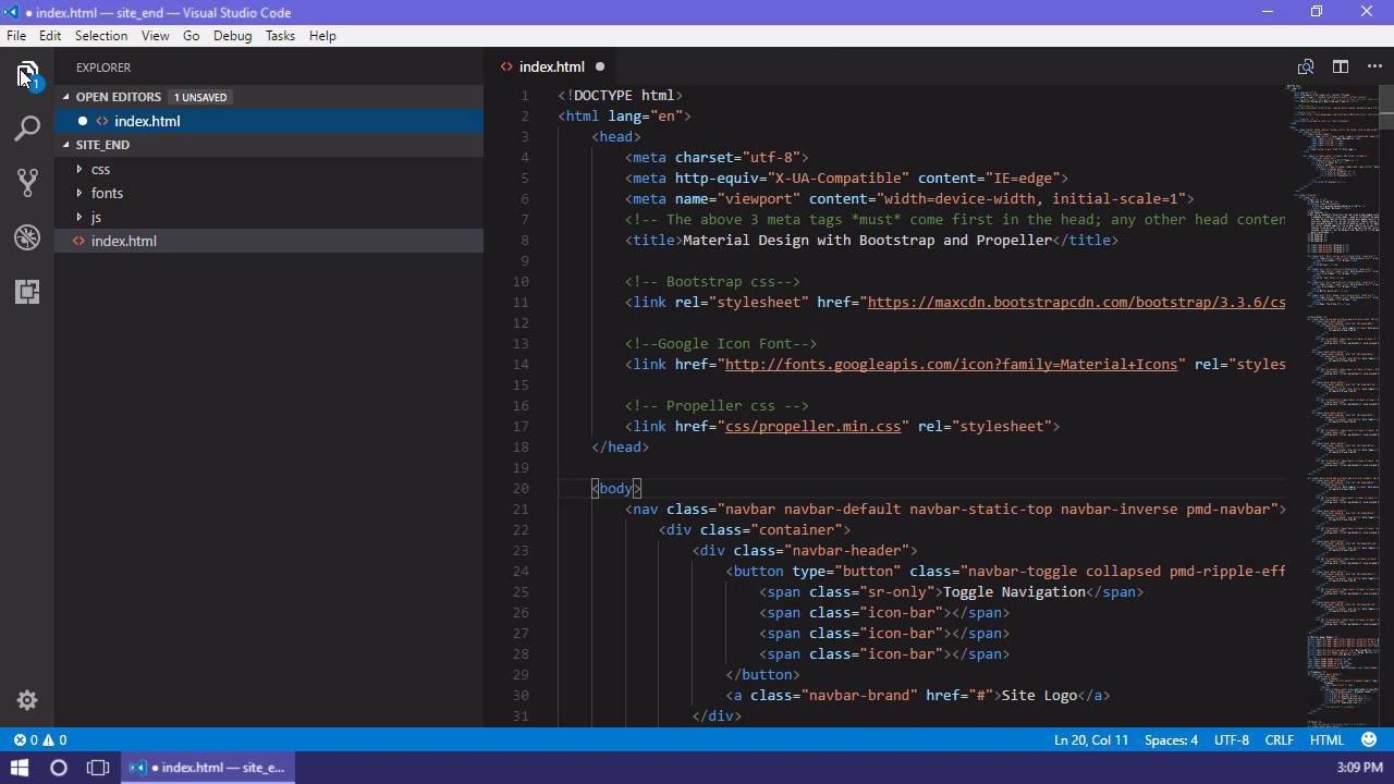 Essential Extensions for Visual Studio Code - HTML Snippets