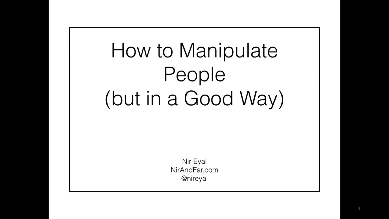 Webinar - How to manipulate people, but in a good way
