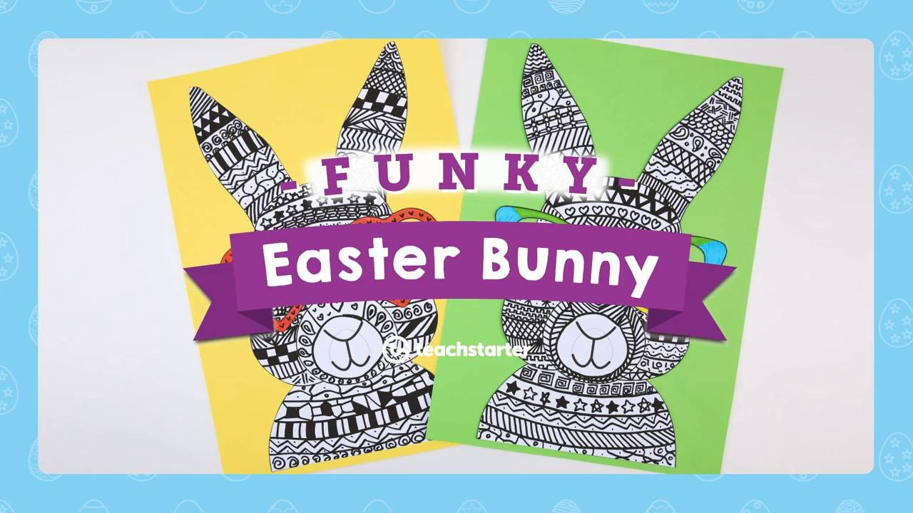 Fun Easter Bunny Craft Idea Teach Starter