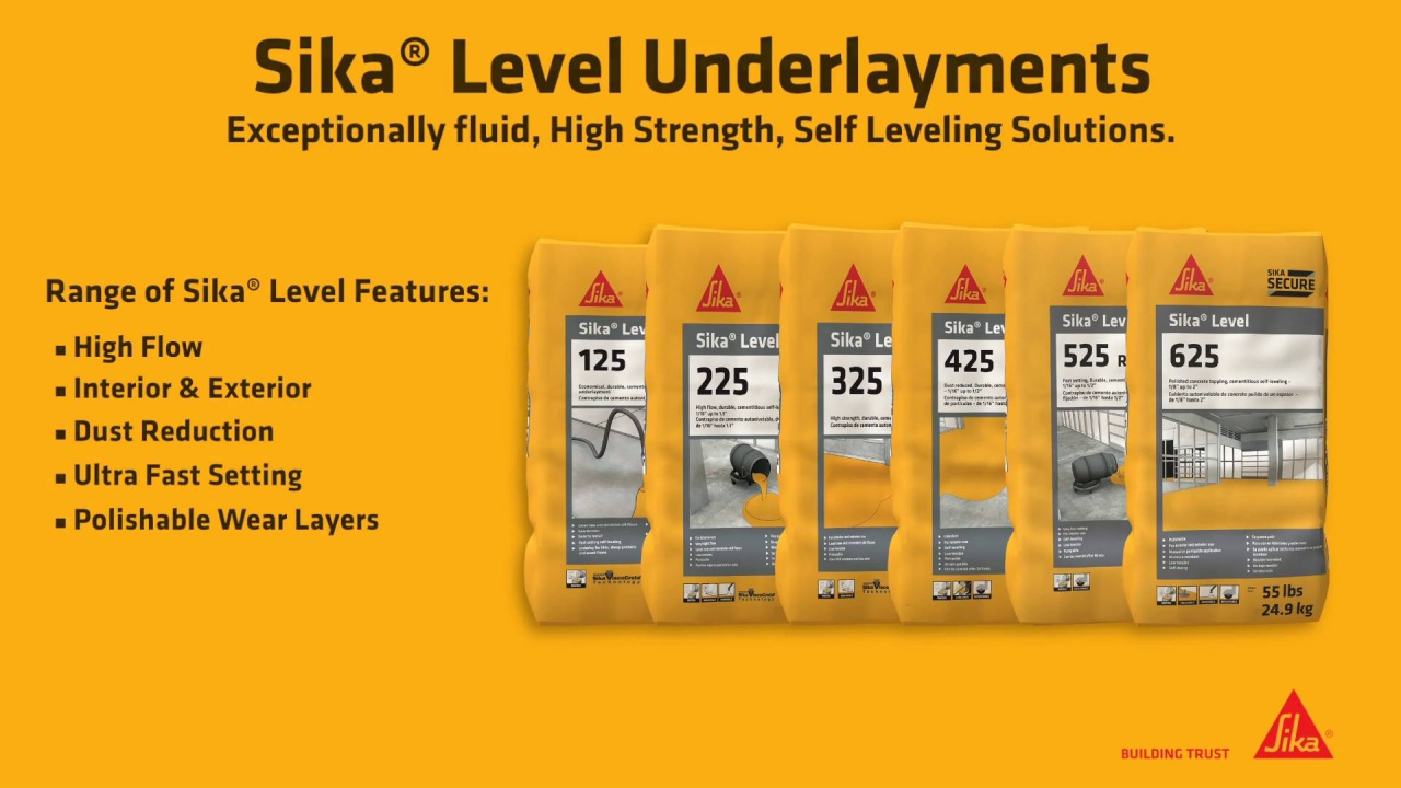 Sika® Level Underlayments