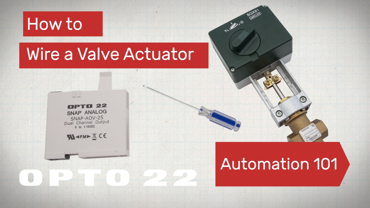 Wire A Valve Actuator Automation 101 Video Control Logic Diagram Hvac More About Automating Systems