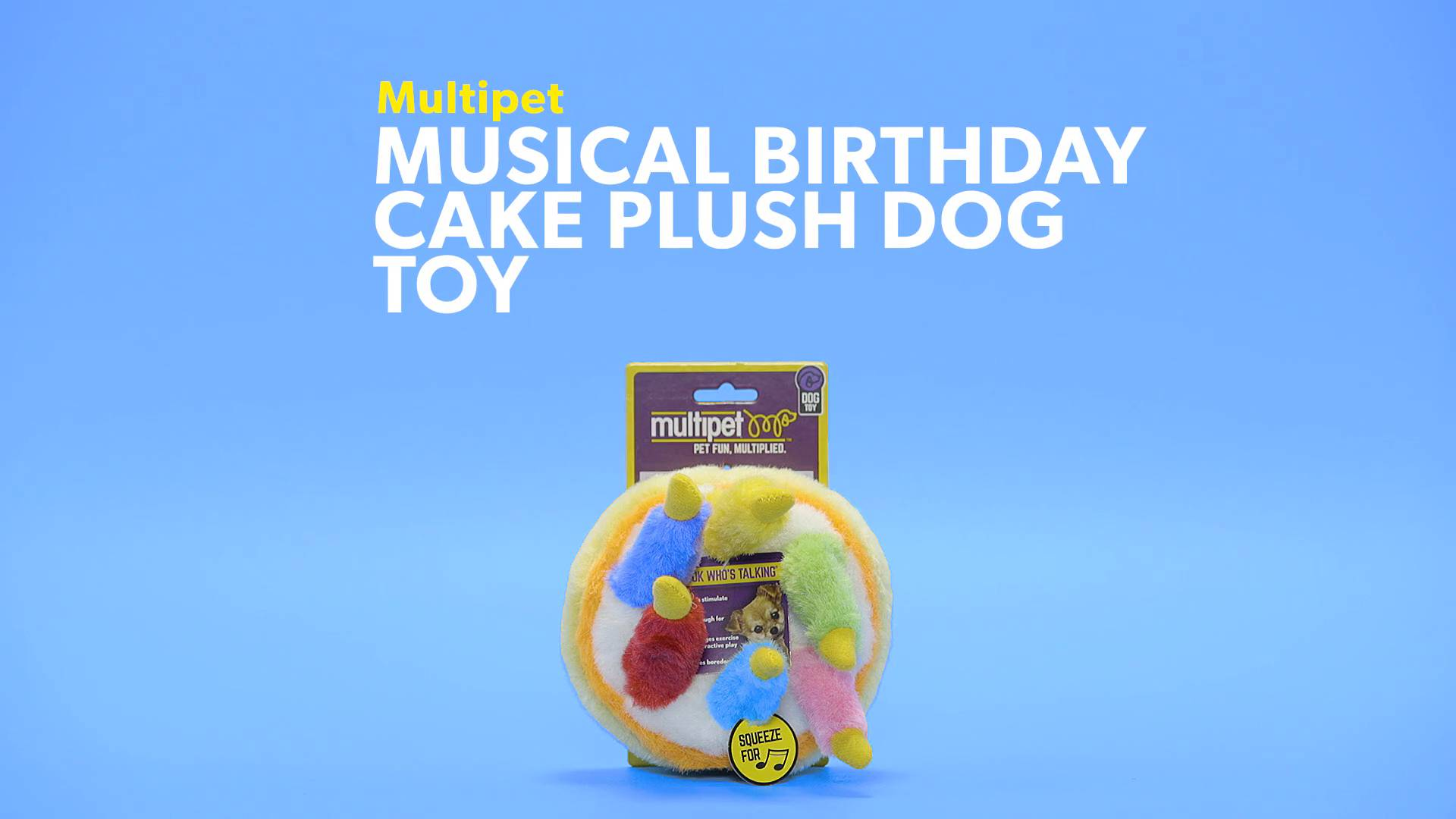 Multipet Musical Birthday Cake Plush Dog Toy Chewy