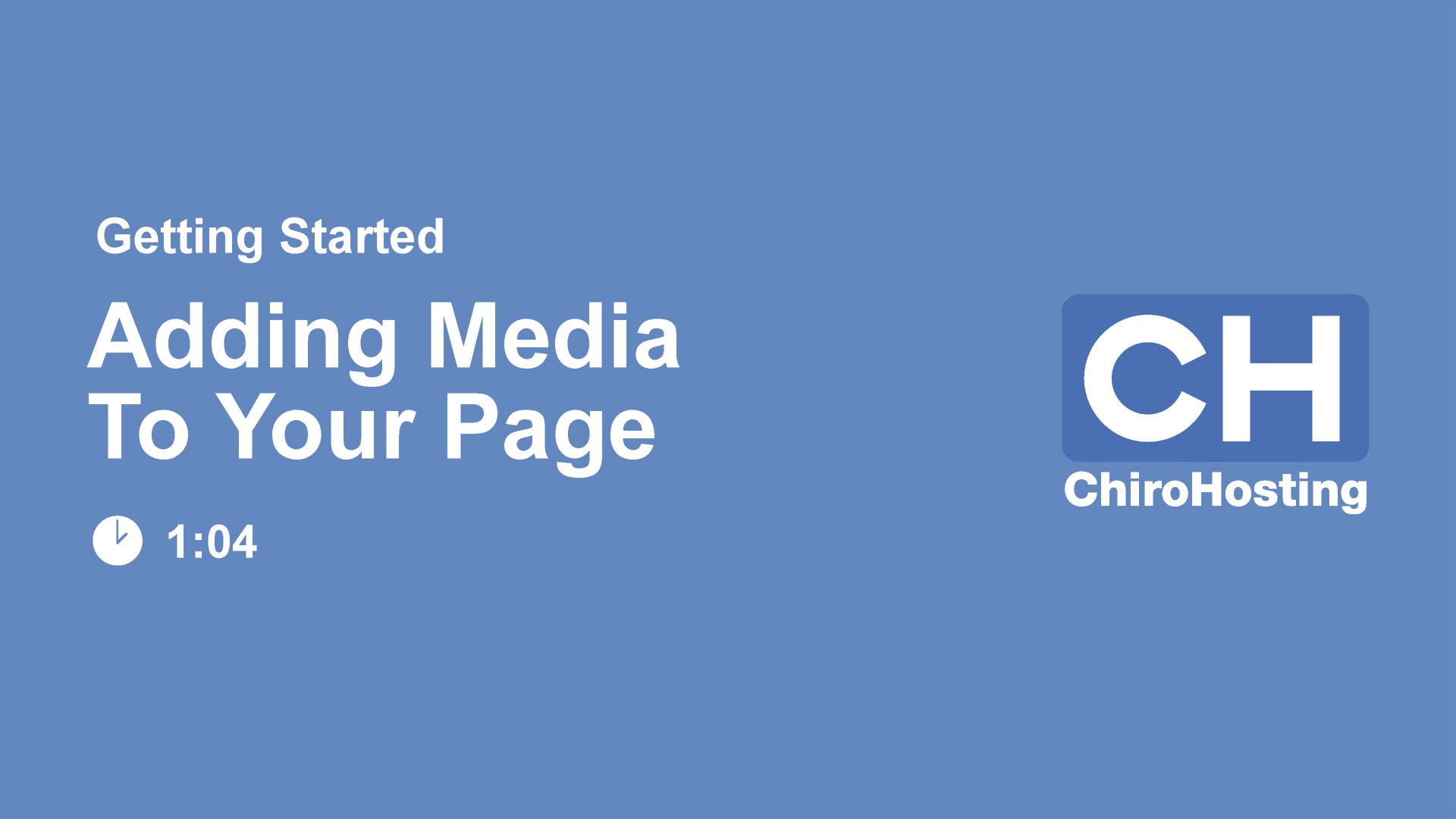 Add Media to Page