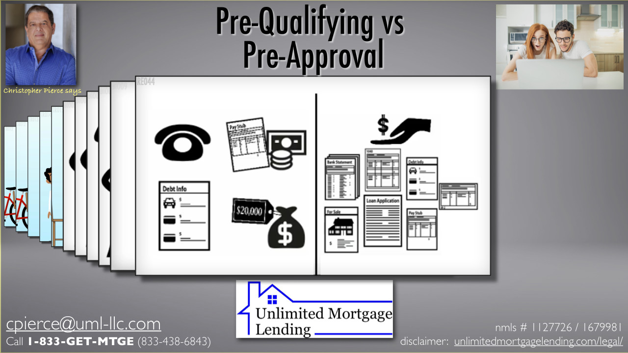 How Are Pre-Qualifying And Pre-Approval Different? Unlimited Mortgage Lending