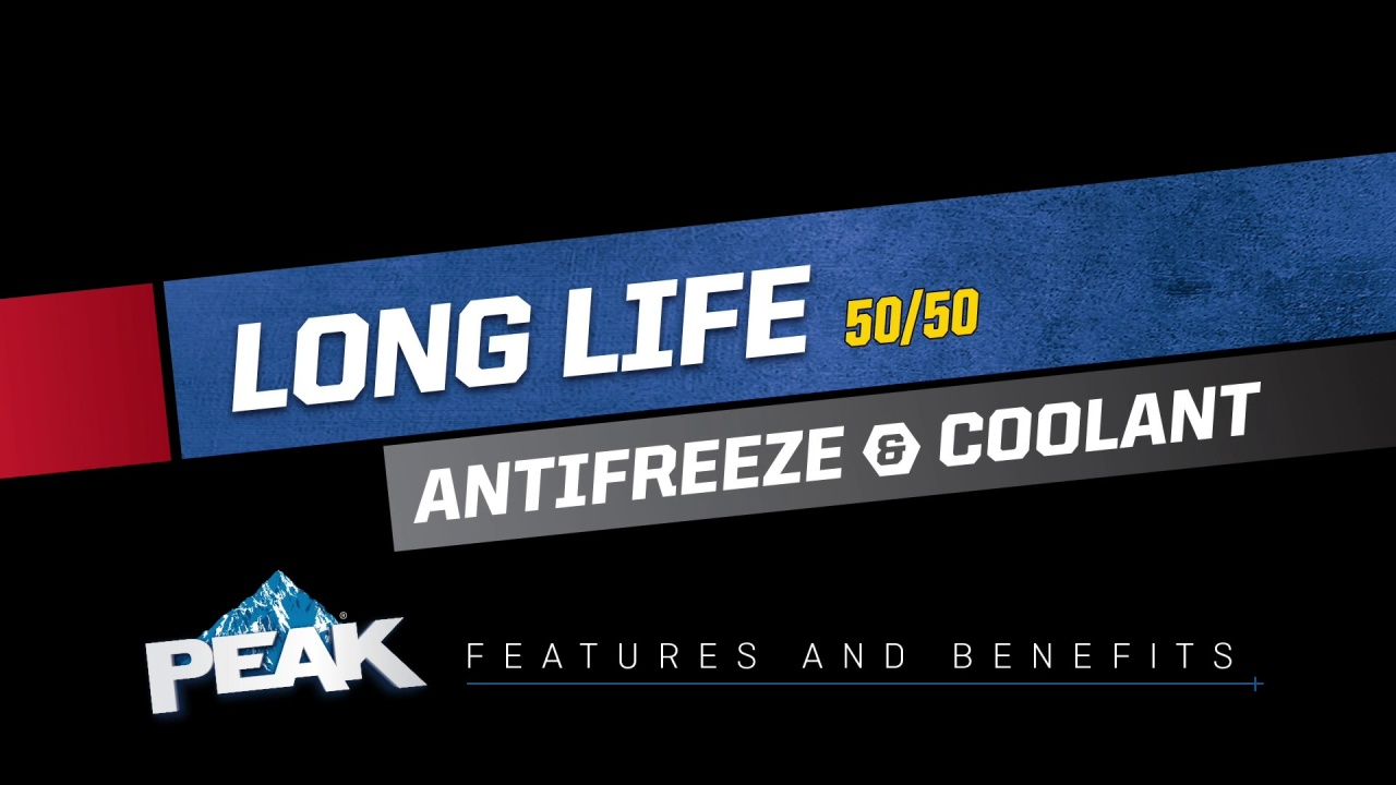 Prediluted Long Life 50 Antifreeze Coolant Peak Auto Engine Color Video Thumbnail