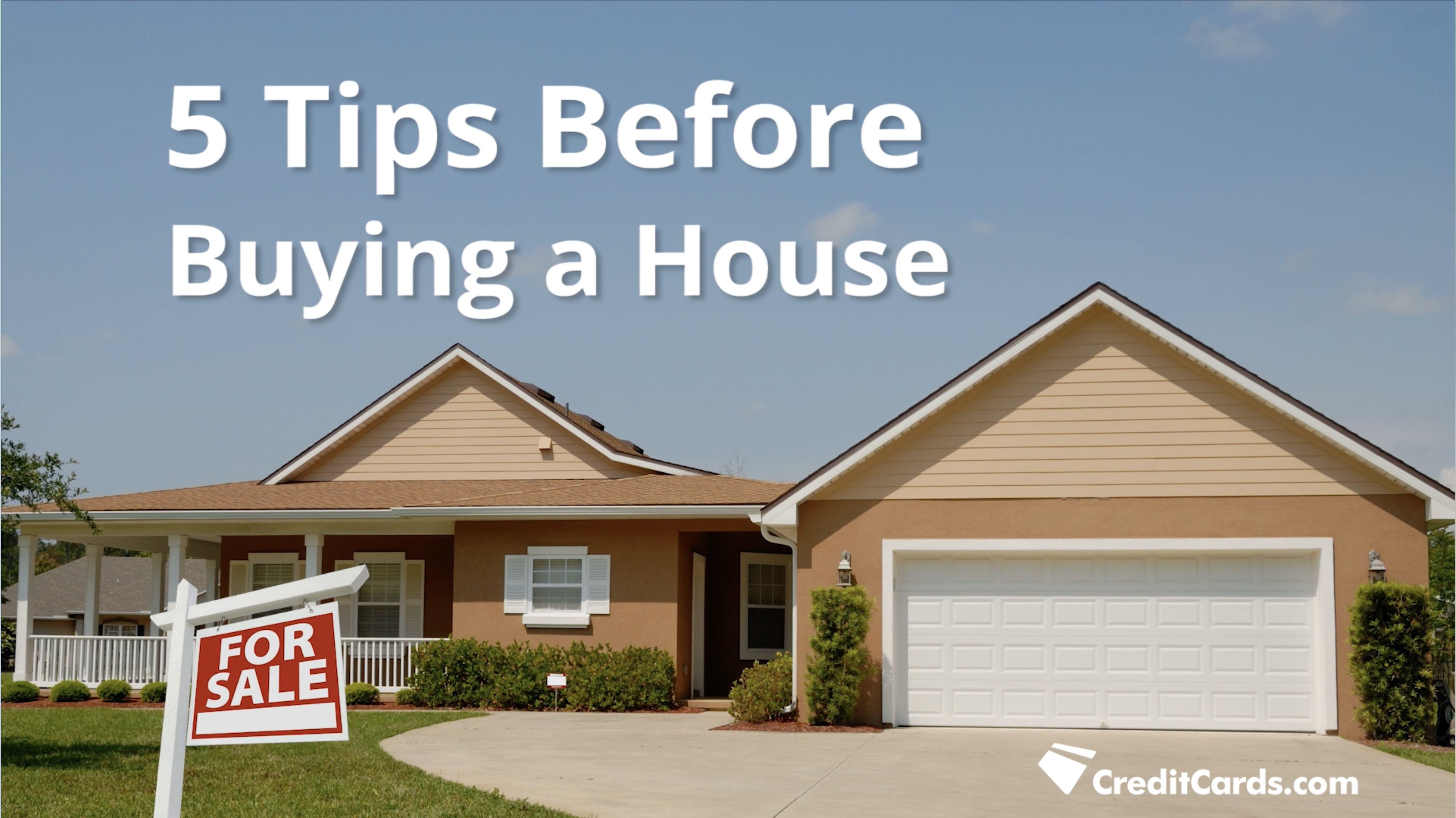 Video 5 tips before ing a house