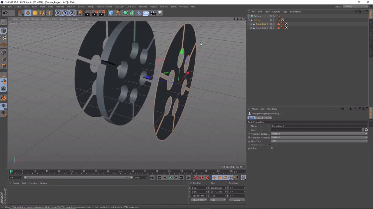Extrude the 3D Wheel