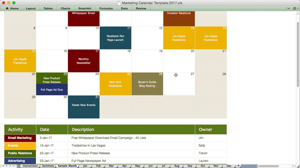 Sample Marketing Calendar One Of The Public Relations Tips That