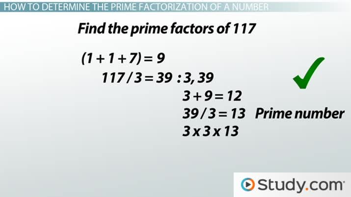 How to find the prime factorization of a number video lesson how to find the prime factorization of a number video lesson transcript study ccuart Image collections