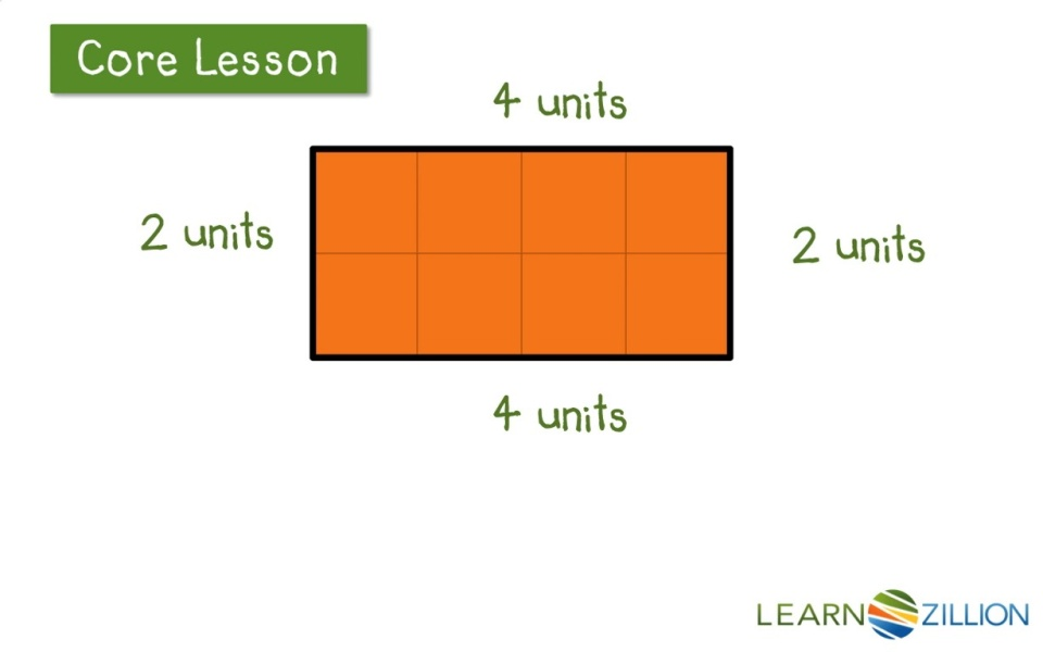Lesson video for 'Find the perimeter of a square or rectangle by adding  side lengths'