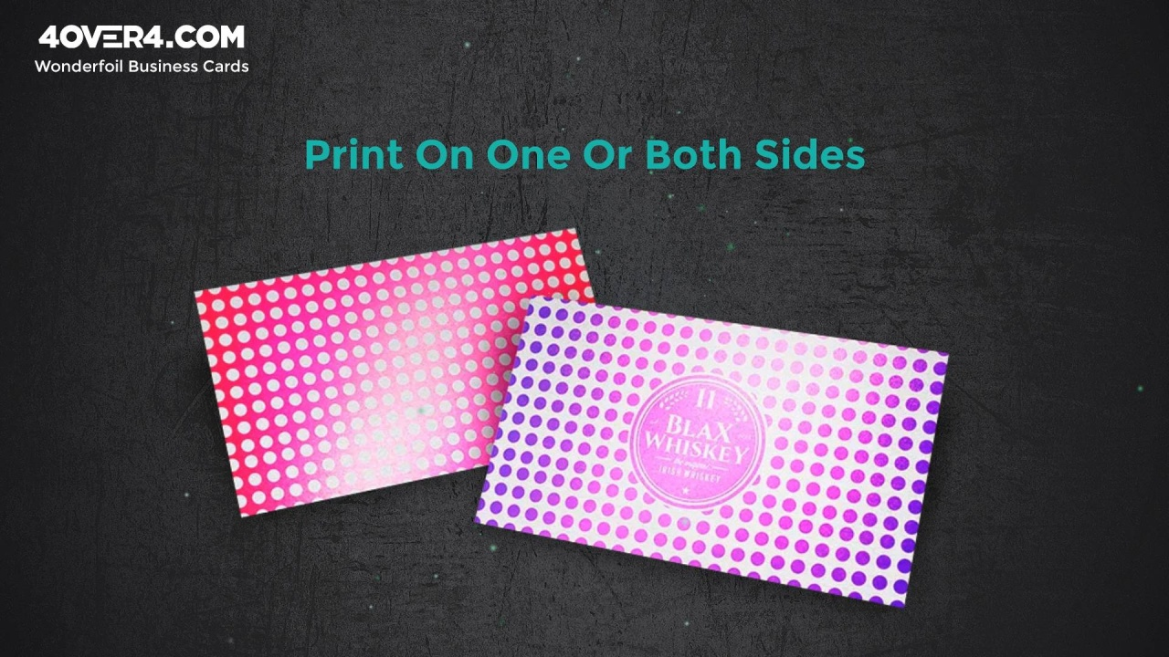 Cold foil stamping wonderfoil business cards