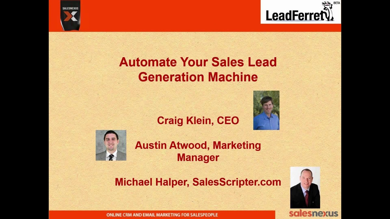 Wistia video thumbnail - Automating Your Sales Lead Generation Machine
