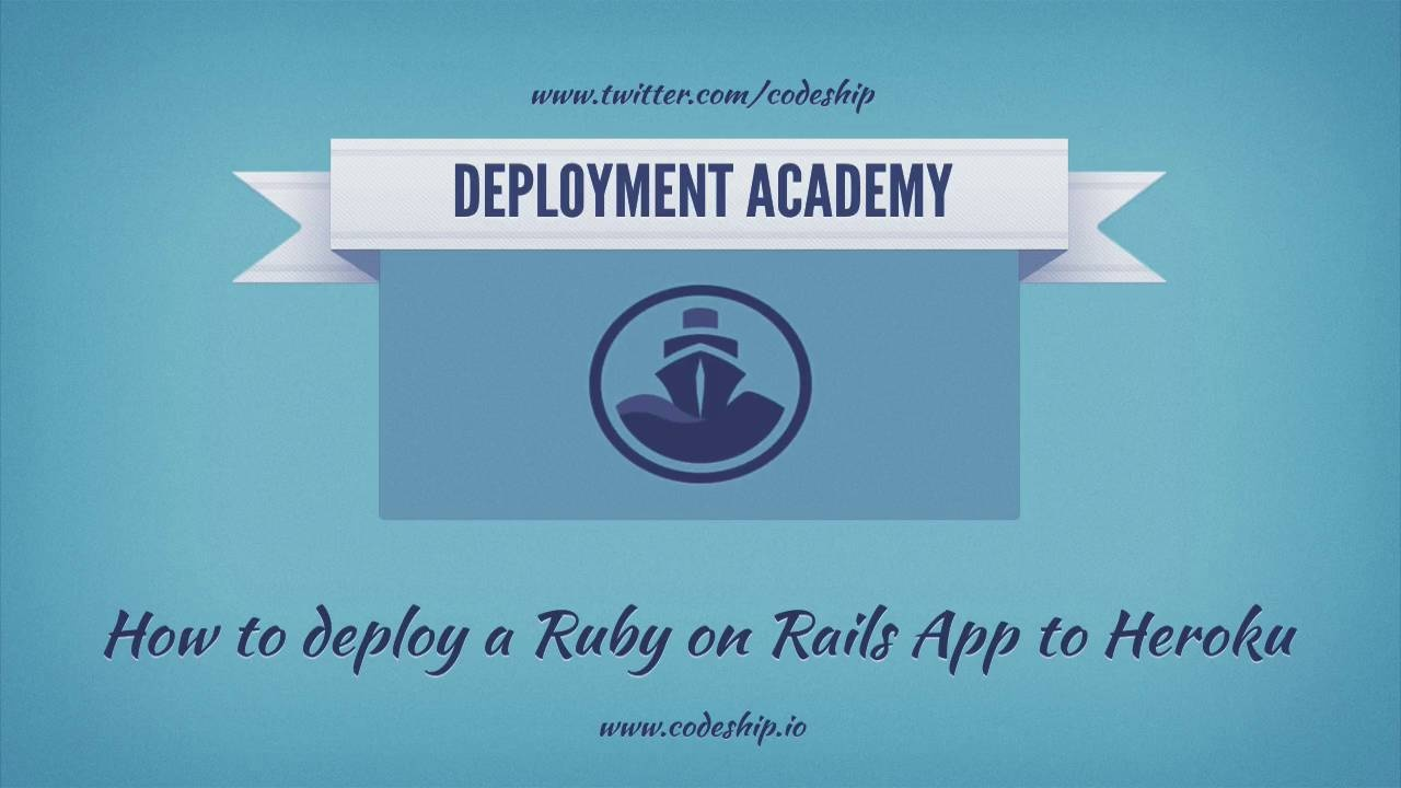 How to deploy a Ruby on Rails app from GitHub to Heroku