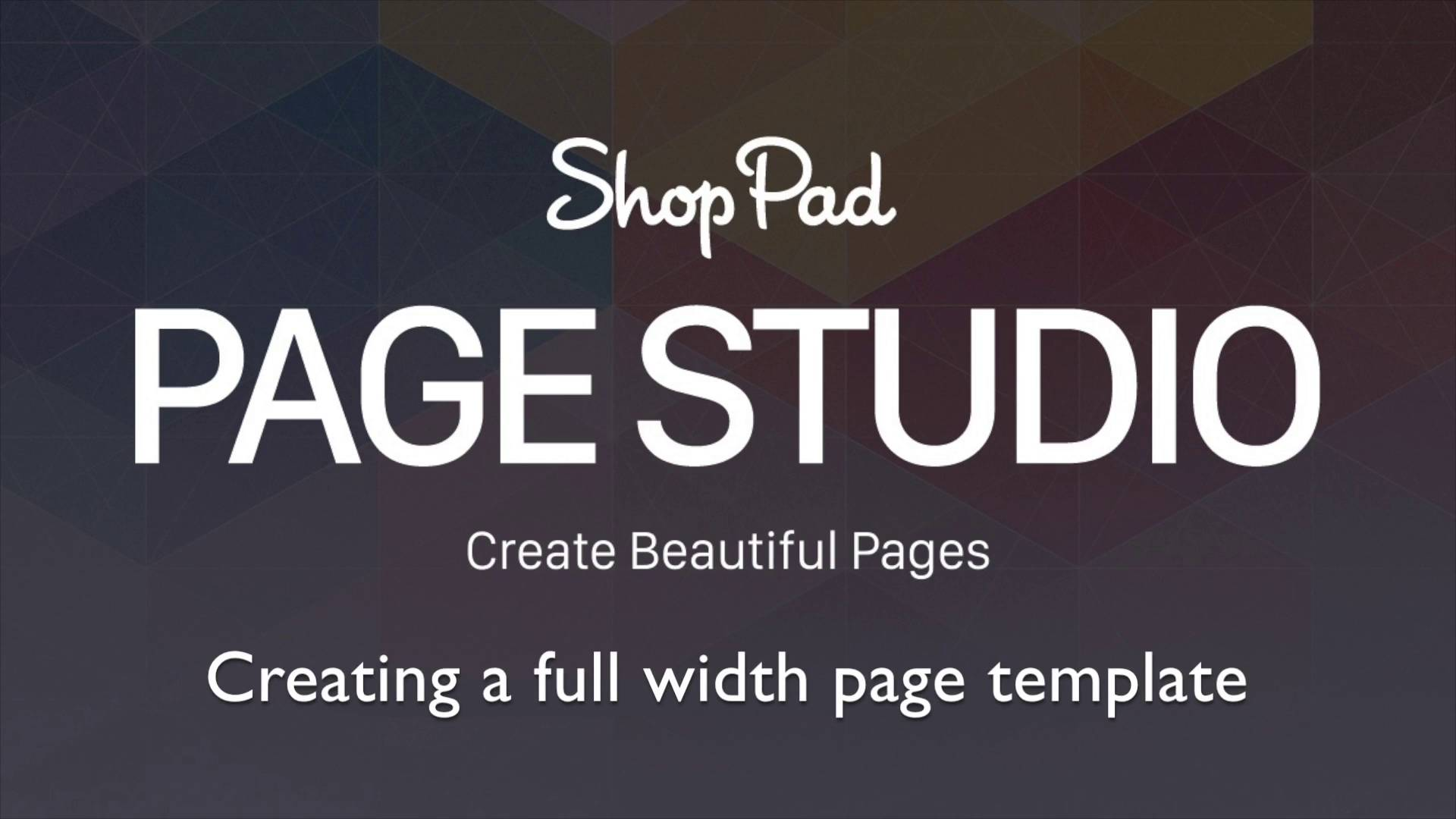 Enable full width pages - ShopPad Knowledge Base