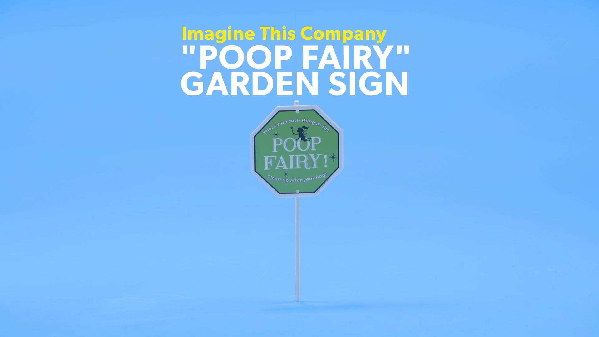 Imagine This Company Poop Fairy Garden Sign Chewycom