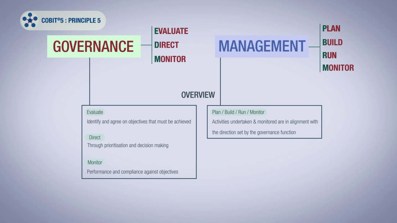 Cobit 5 Principle 5 Separating Governance From Managment
