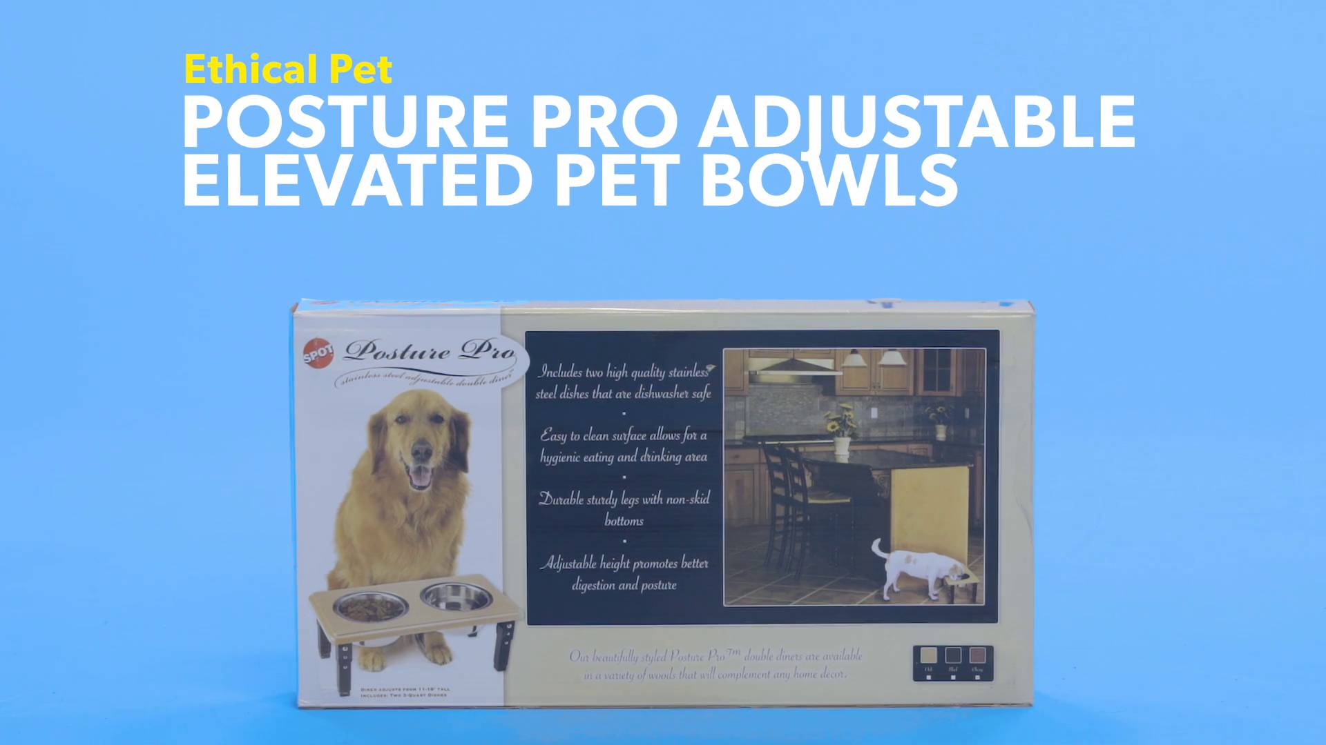 Ethical Pet Posture Pro Adjustable Elevated Pet Bowls, Black, 12 Cup    Chewy.com