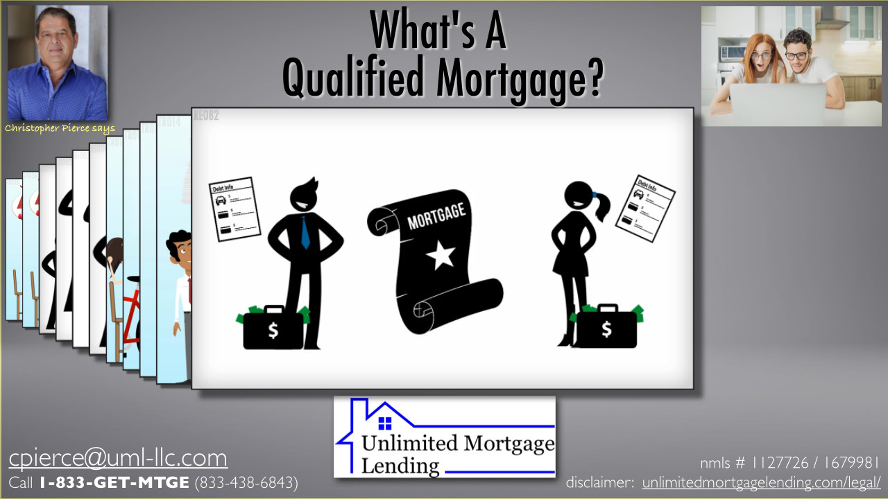 What Is A Qualified Mortgage? Unlimited Mortgage Lending
