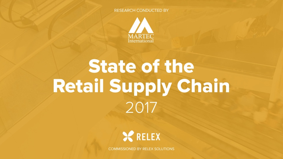 Martec Report: State of the Retail Supply Chain