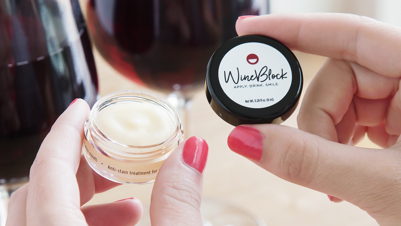 Image result for WineBlock Red Wine Stain Preventing Lip & Teeth Balm