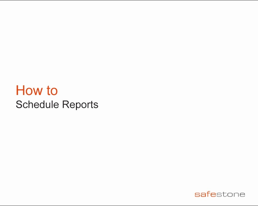 Scheduling Reports · Customer Portal