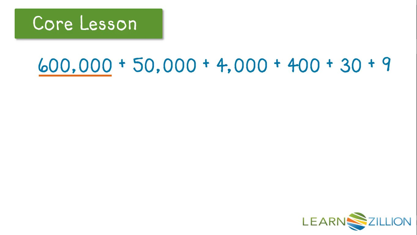 Read and write numbers in expanded form learnzillion falaconquin