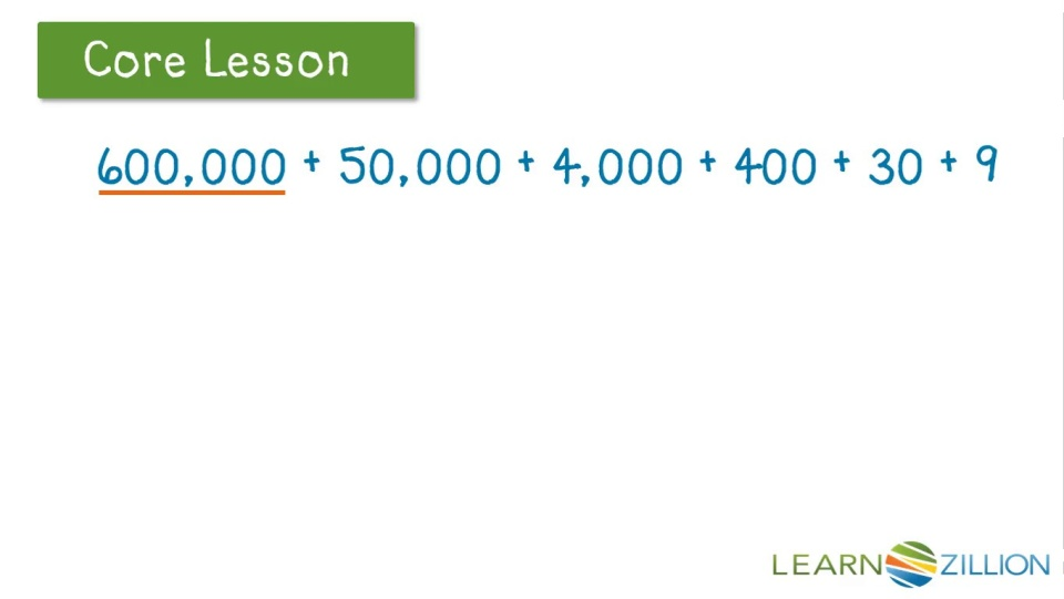 Read And Write Numbers In Expanded Form Learnzillion