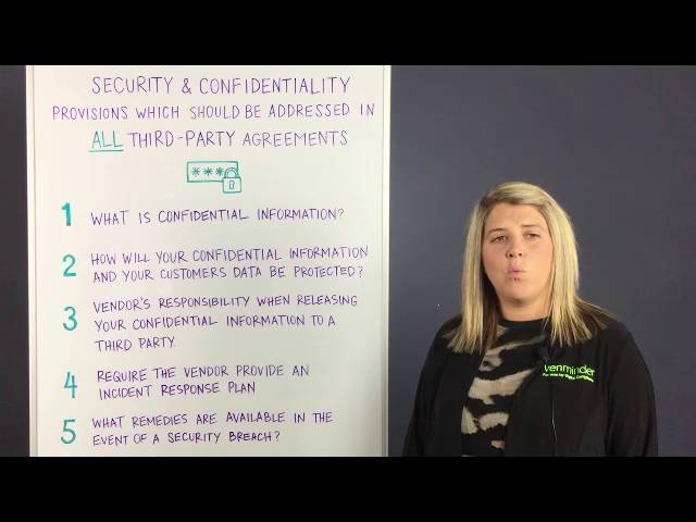 Video On Vendor Contract Confidentiality And Security