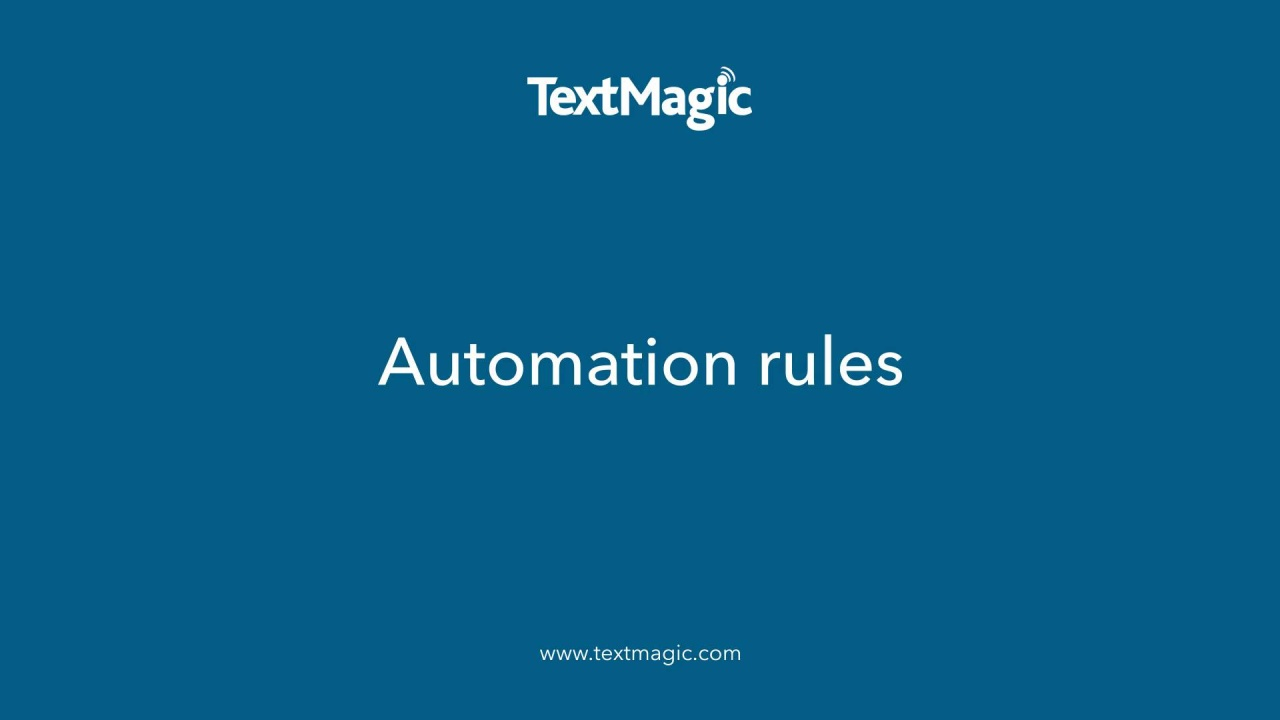 Automation rules Landing page