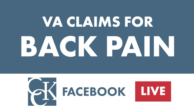 VA Disability Benefits for Back Pain | CCK Law