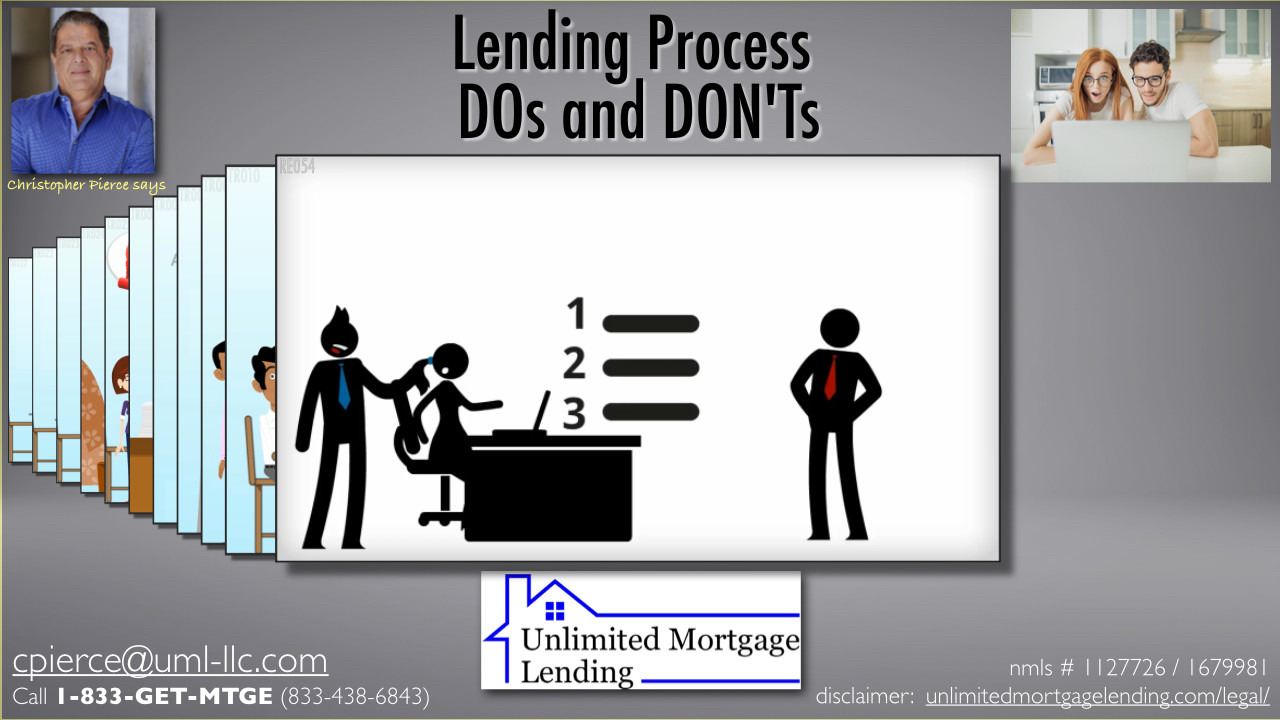 What Responsibilities Do I Have During The Lending Process? Unlimited Mortgage Lending