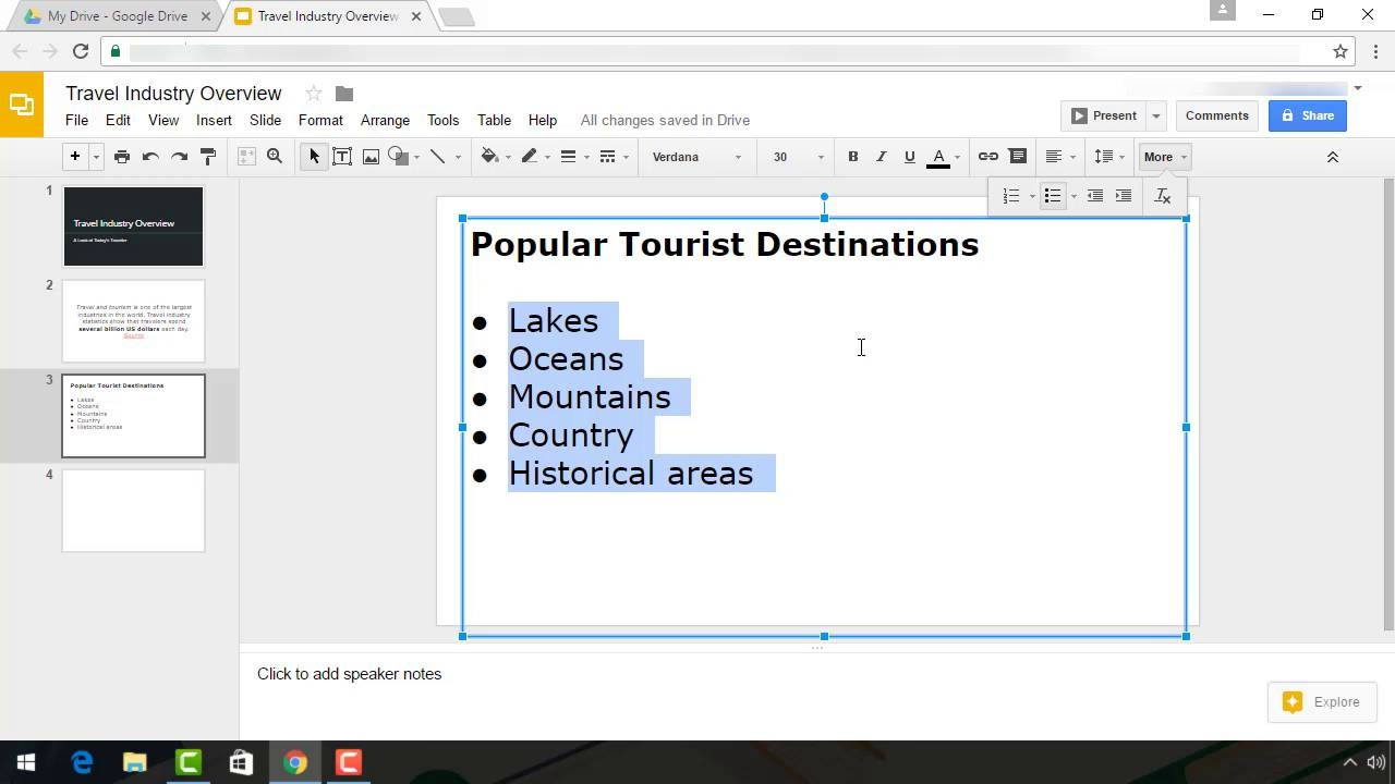 How To Add Text Bullet Points In Google Slides Presentations