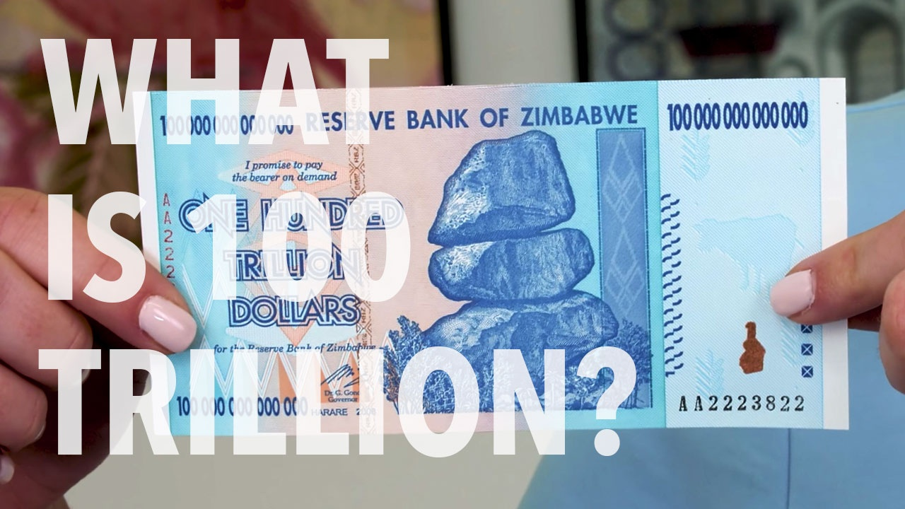 100 Trillion Zimbabwe Dollars Currency