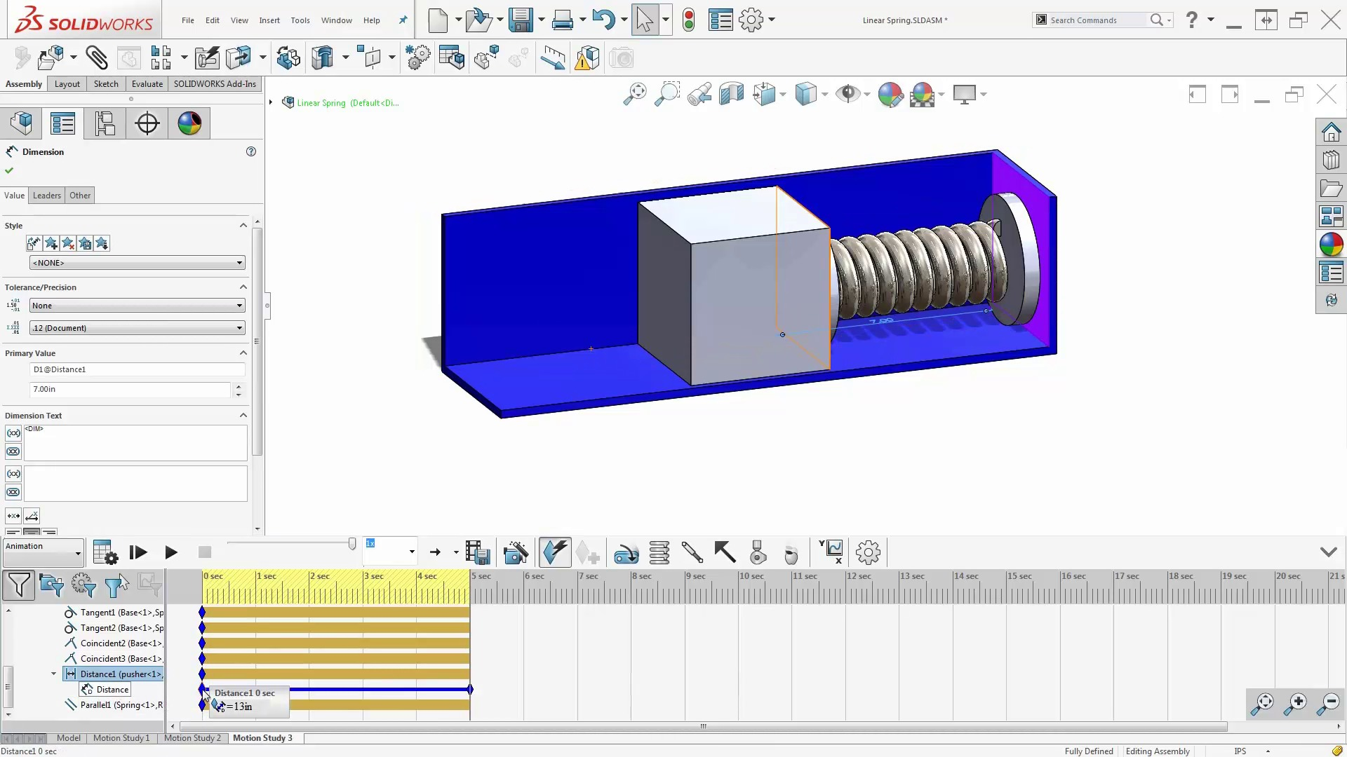Spring animations using solidworks animation motion tools baditri Image collections
