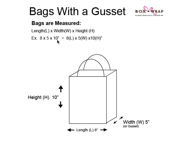 Measuring Guide Shopping Bags With Handle Box And Wrap
